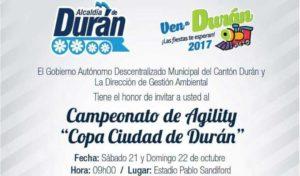 AGILITY DURA 21 Y 22 DE OCTUBRE