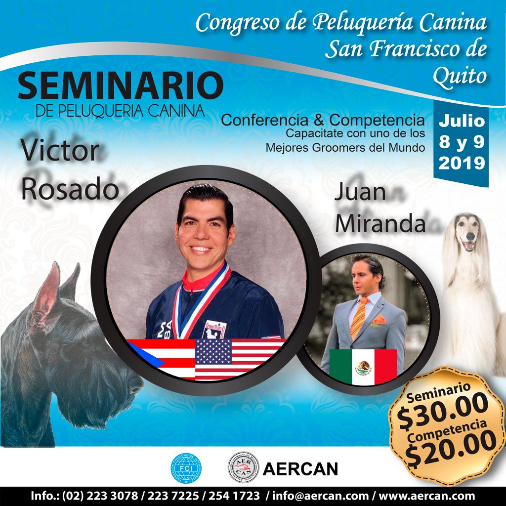SEMINARIO Y CONCURSO DE PELUQUERIA CANINA